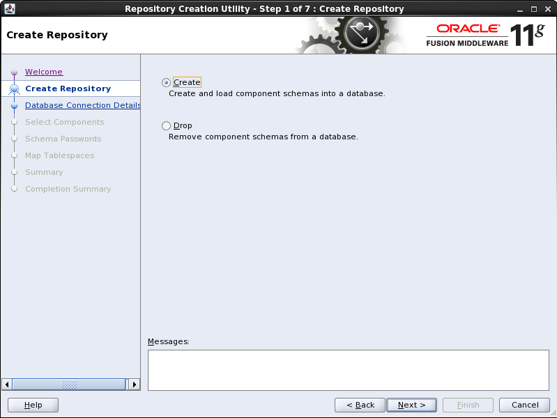oracle repository creation utility 11.1.1.7