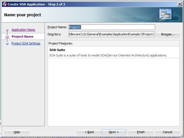 Create SOA Application - Step 2 of 3