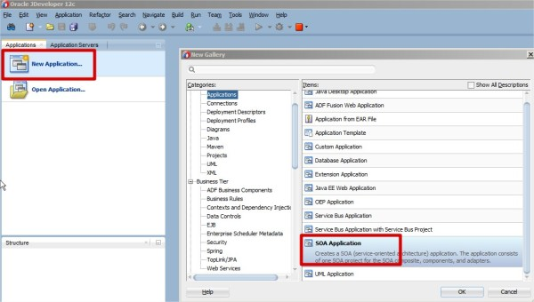 SOA 12c New Application